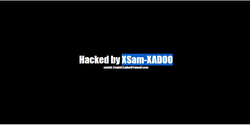 Site hacké malware XsamXadoo Bot